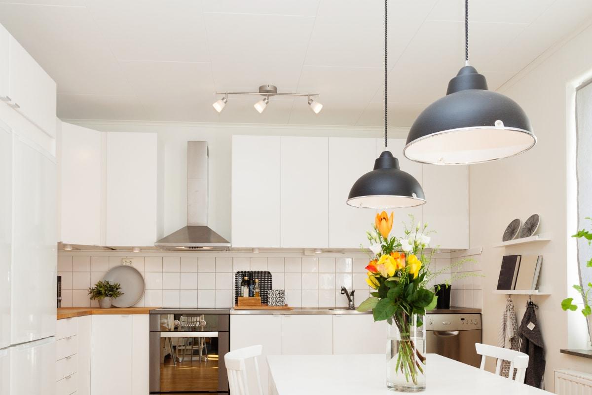 aluminium plafond keuken