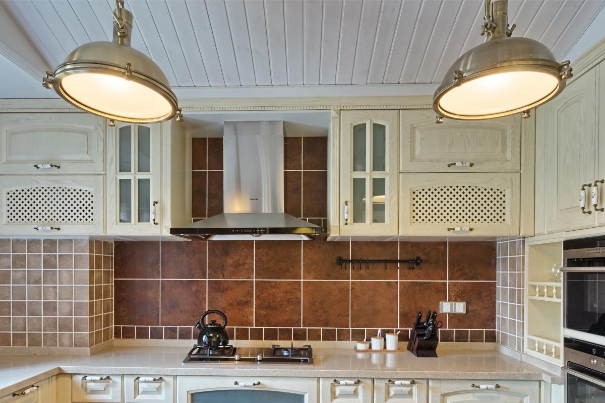 houten plafond keuken